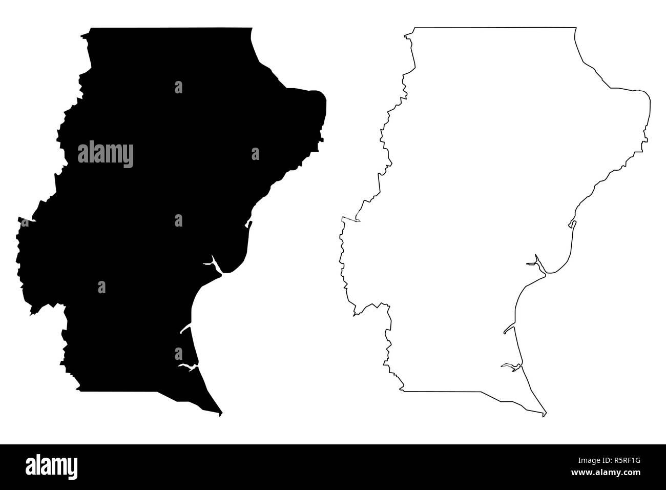 Santa Cruz Region De La Argentina La Republica Argentina En Las Provincias De Argentina Mapa Ilustracion Vectorial Dibujo A Mano Alzada De La Provincia De Santa Cruz Mapa Imagen Vector De Stock