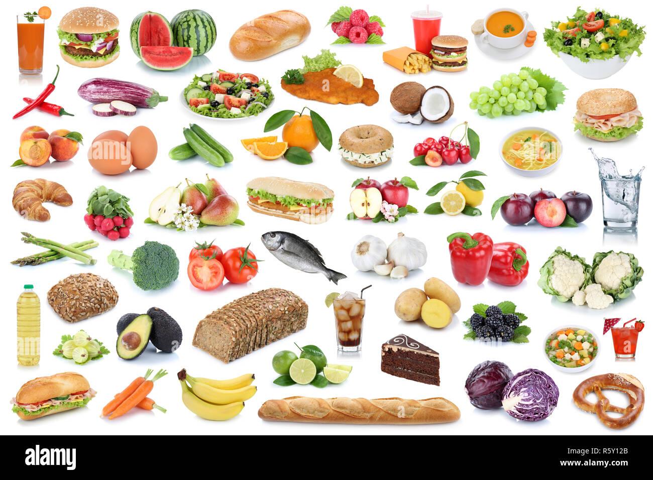 Collage De Alimentos Alimentos Saludables Frutas Y Hortalizas