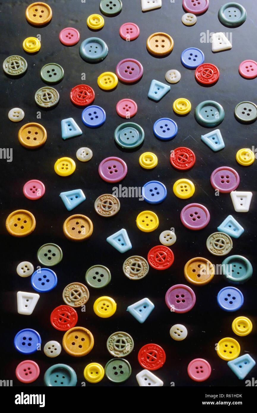 Concepto, botones, confección Imagen De Stock