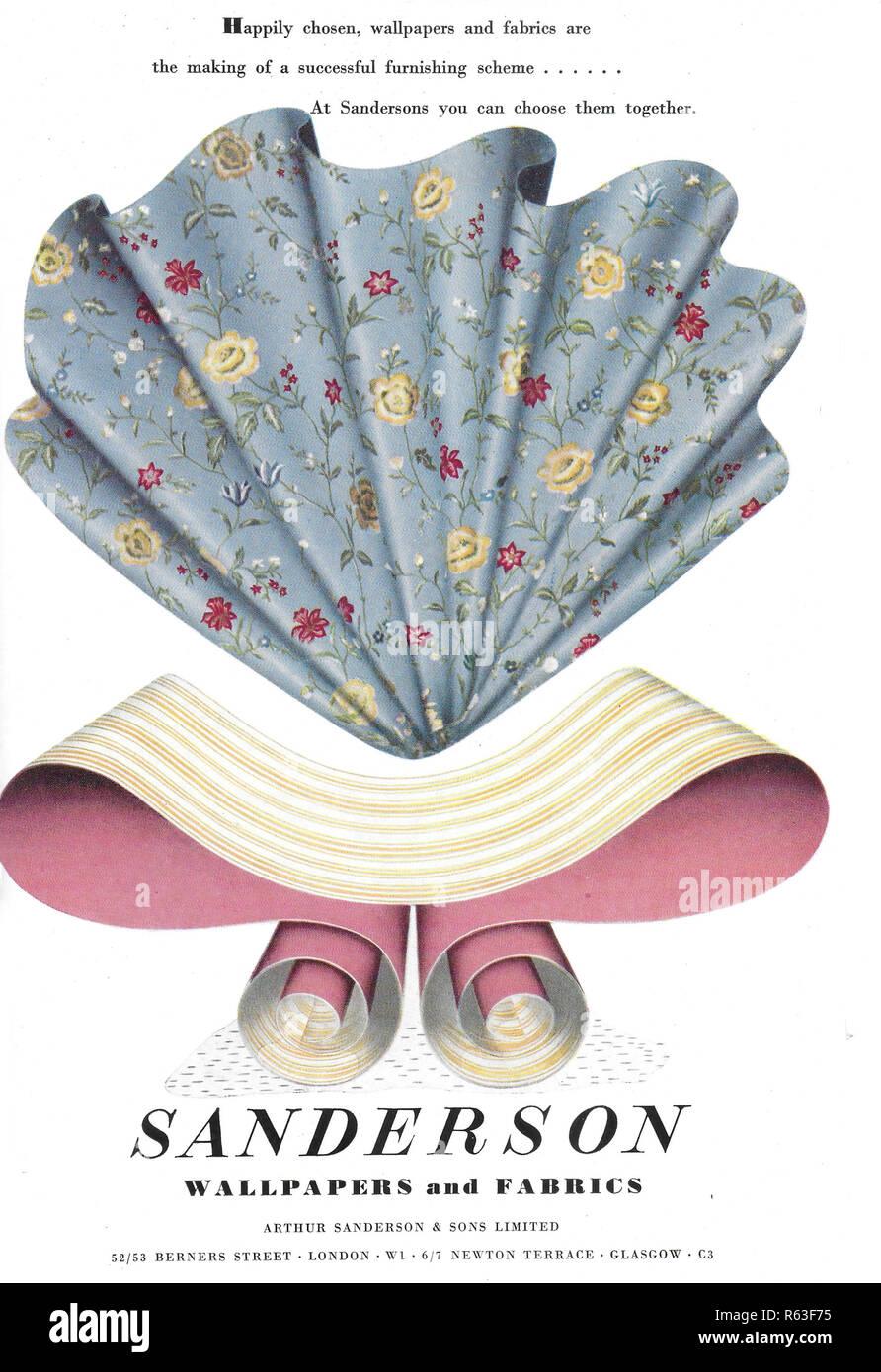 Sanderson Wallpapers Y Telas Anuncio Publicidad En Country