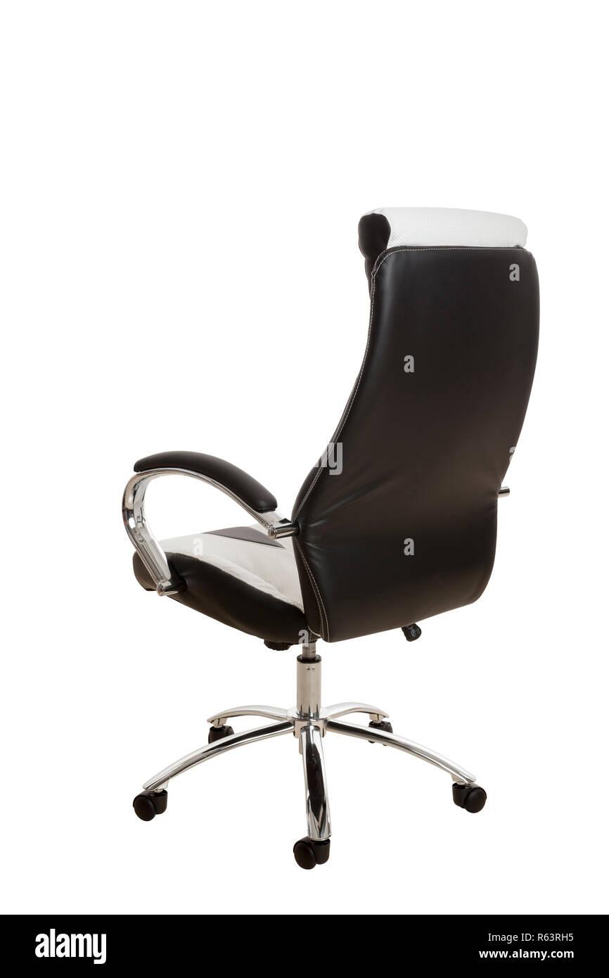 Vista posterior de una silla de oficina moderna, tapizado en ...