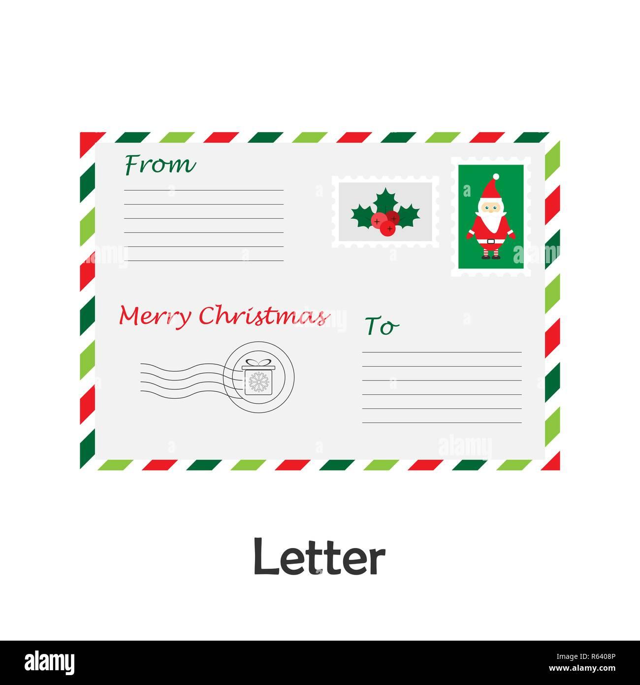 Dibujos Para Tarjetas De Navidad Para Ninos.Carta En El Estilo De Dibujos Animados Tarjeta De Navidad