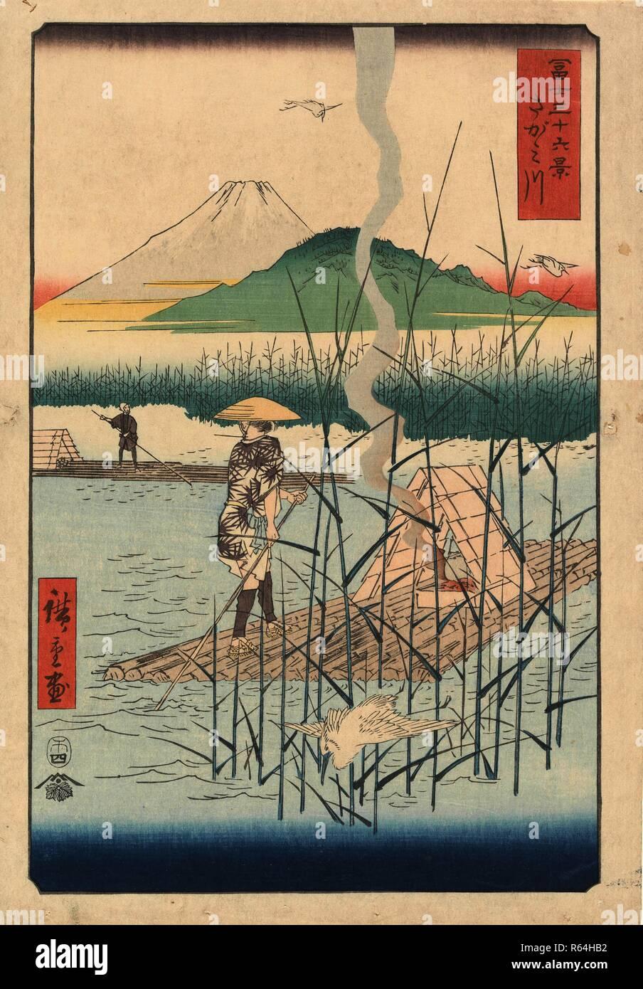 El Río Sagami, desde la serie Thirty-Six vistas del Monte Fuji ...