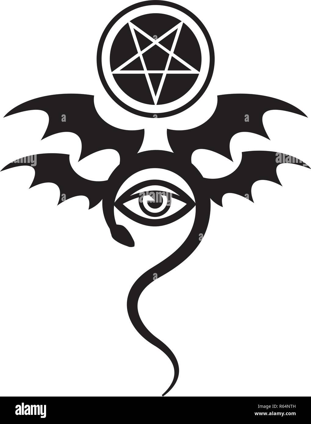 Mal De Ojo El Maléfico Mayor Símbolo Místico De Magia Negra