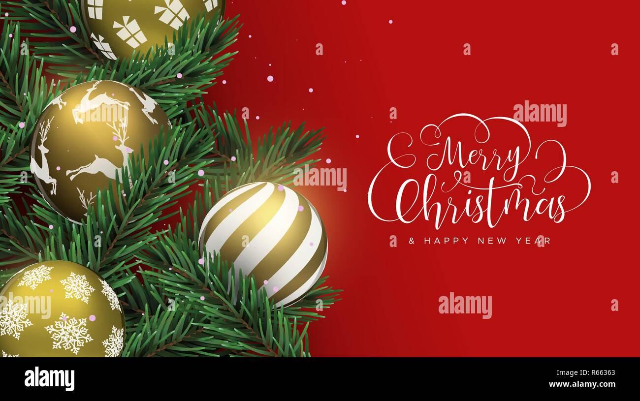 Feliz Navidad Feliz Año Nuevo Tarjeta Adornos De Navidad