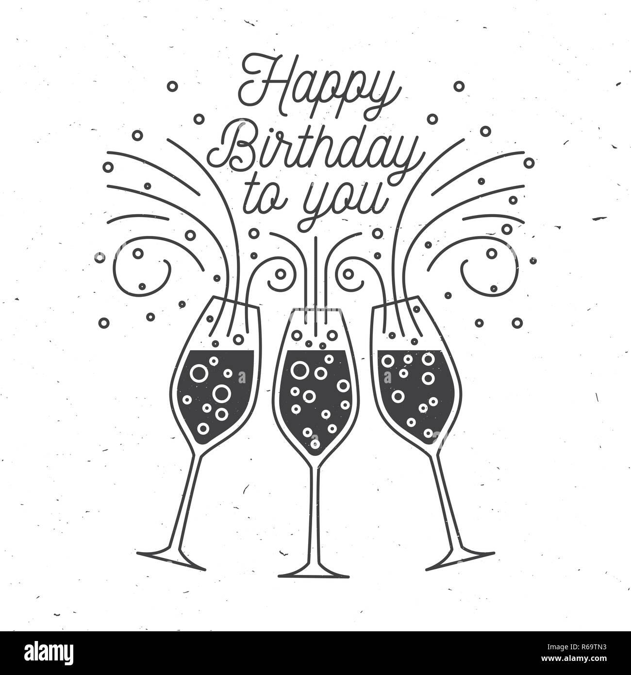 Feliz Cumpleaños A Ti Sello Insignia Etiqueta Tarjeta