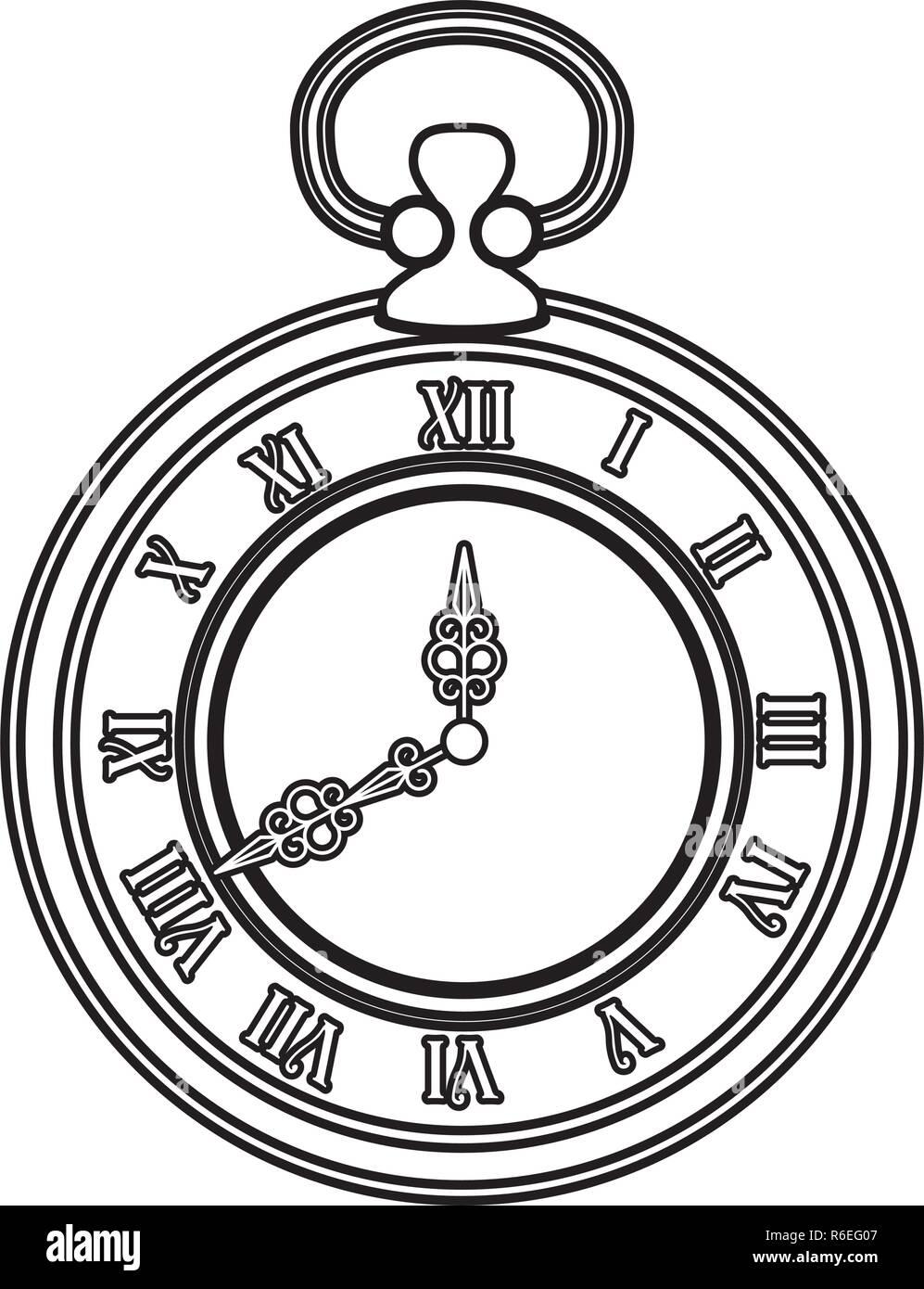 Casco antiguo reloj de tiempo diseño ilustración vectorial