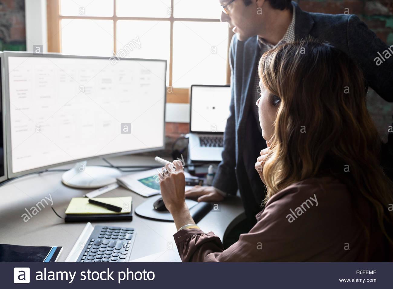 Gente de negocios planificación en equipo en Office Imagen De Stock