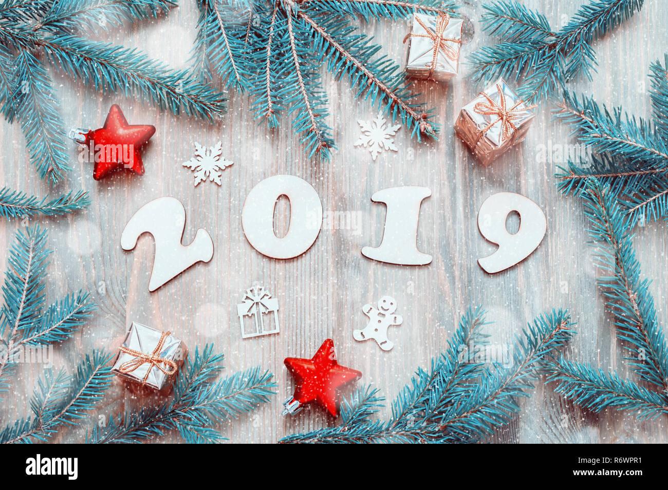 Con FigurasJuguetes De Nuevo Año 2019 NavidadRamas Fondo D29YEHIW