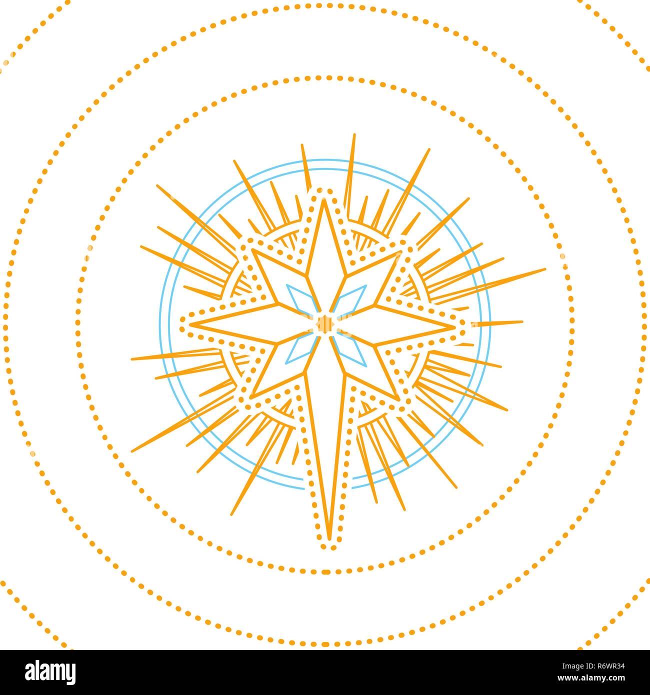 Star Vector Ilustración Geométrica Estrella De Navidad