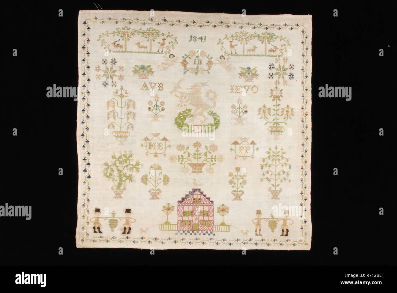 White Cotton Thread Embroidered Imágenes De Stock & White Cotton ...