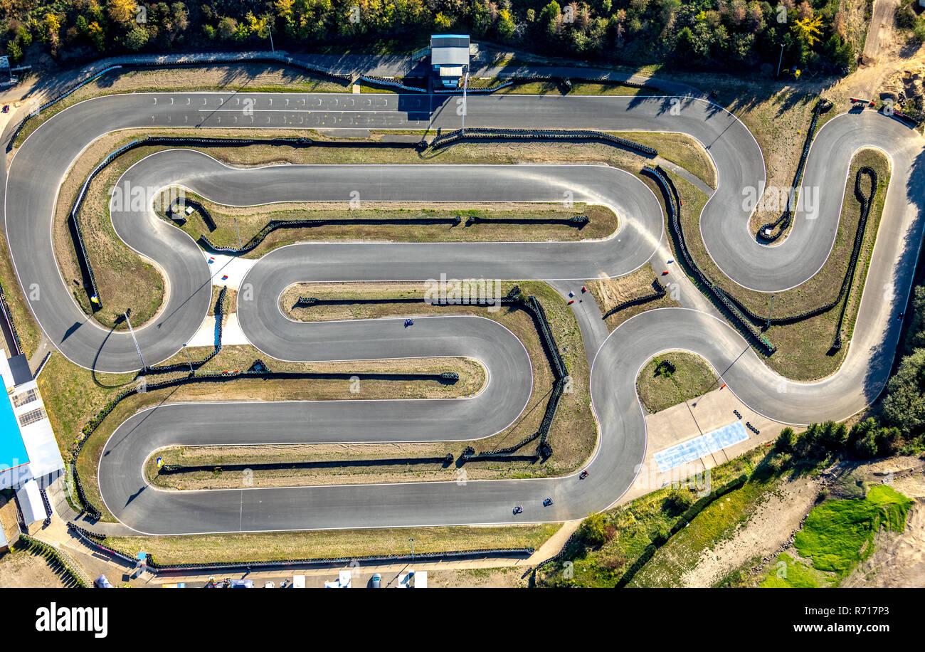 Vista aérea, recinto deportivo, motor Harz-Ring Reinstedt, Sajonia-Anhalt, Alemania Imagen De Stock