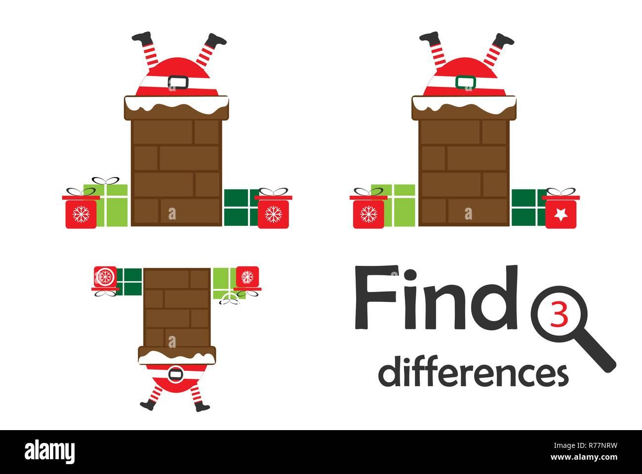 Encontrar 3 Diferencias Juego De Navidad Para Ninos Santa En