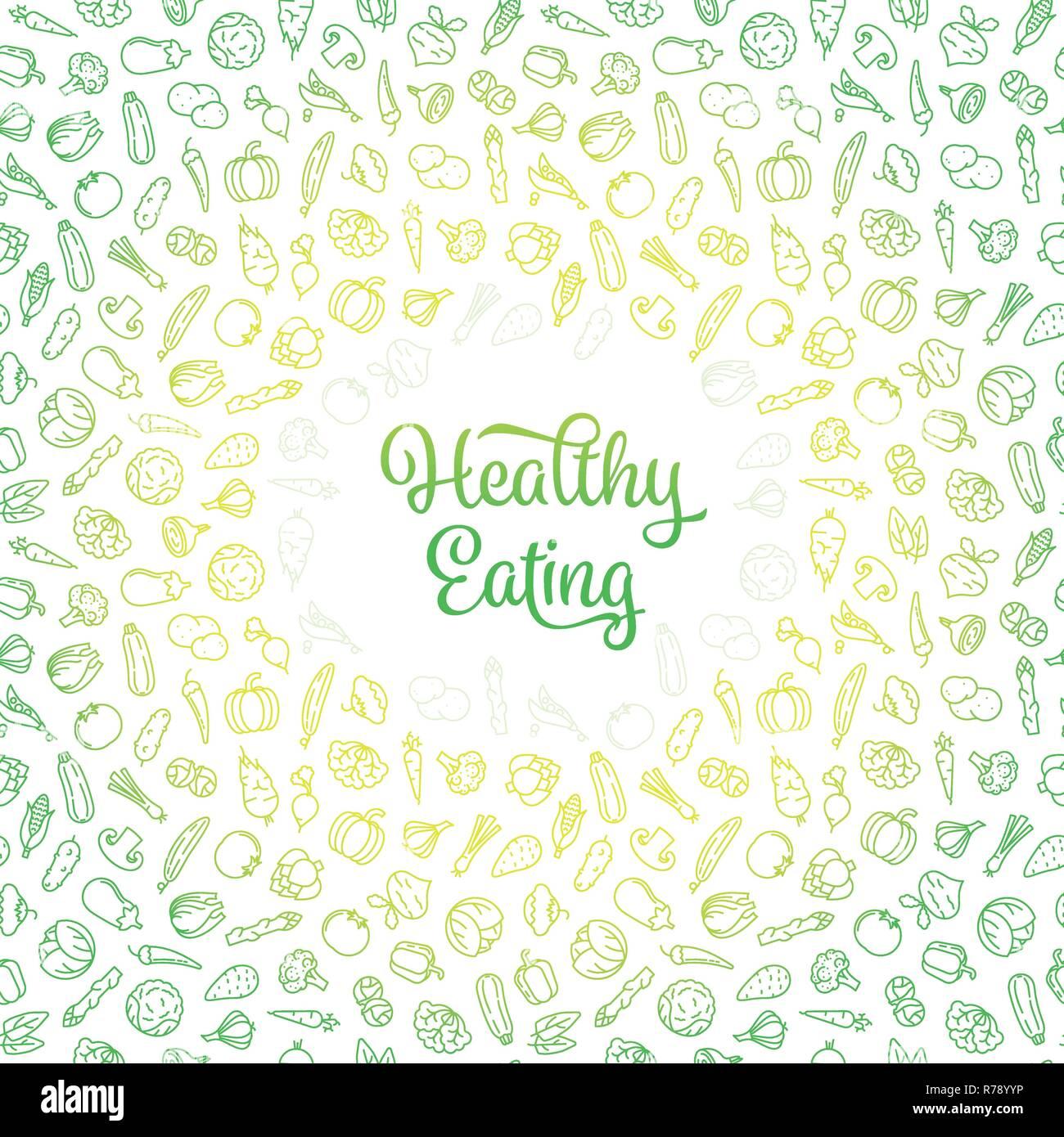 Concepto De Alimentación Saludable Con La Frase Perfecta Y