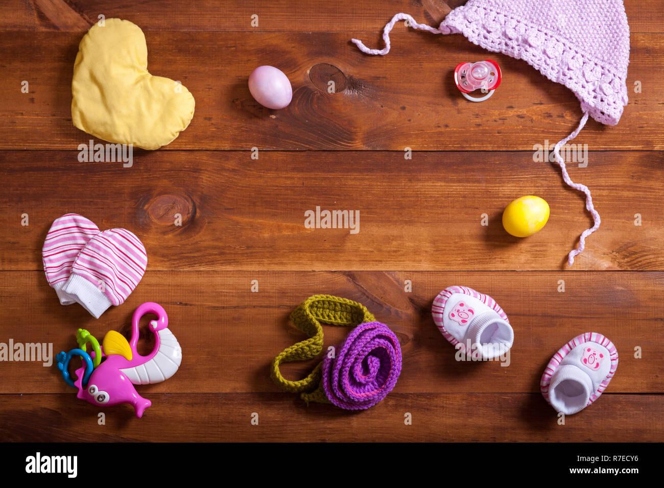 52e47a58a Ropa de bebé, ropa de algodón tejida, Kid juguetes y accesorios de madera  color