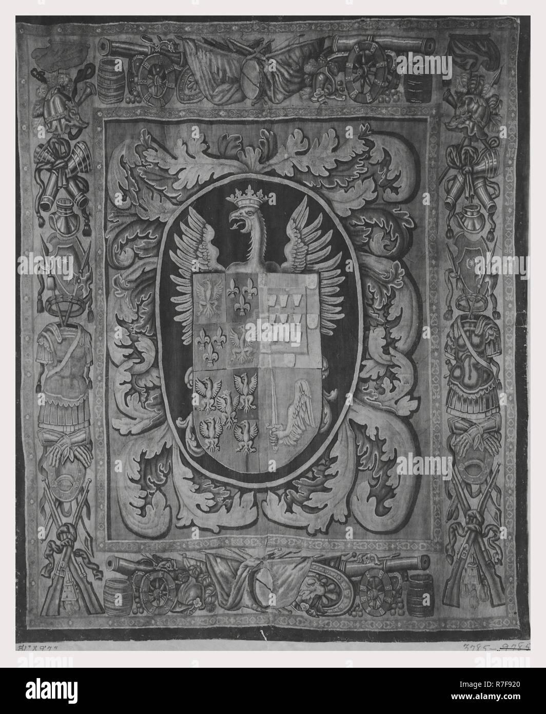 Ayuda a la catalogación Con-portire-acuartelados-escudo-apoyado-por-aguila-coronada-r7f920