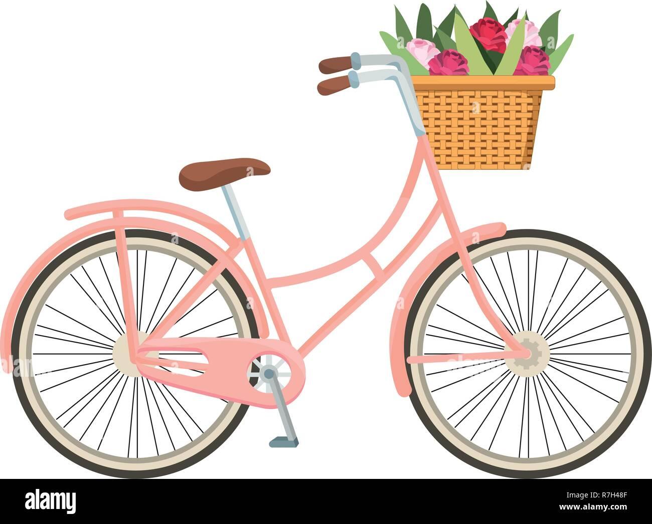 Cute Dibujos Animados De Bicicletas Ilustracion Del Vector
