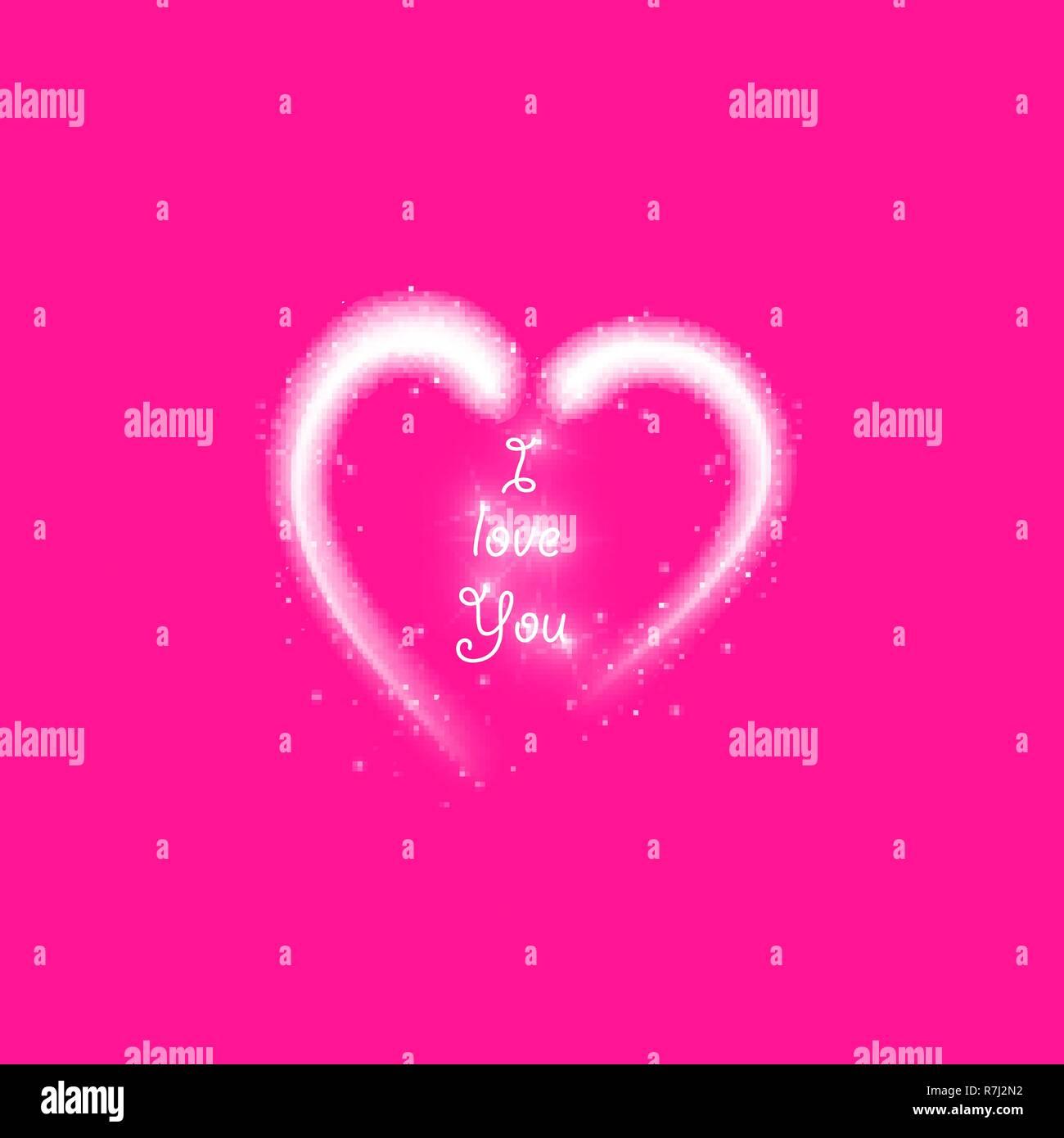 Feliz Día De San Valentín Tarjeta De Felicitación I Love