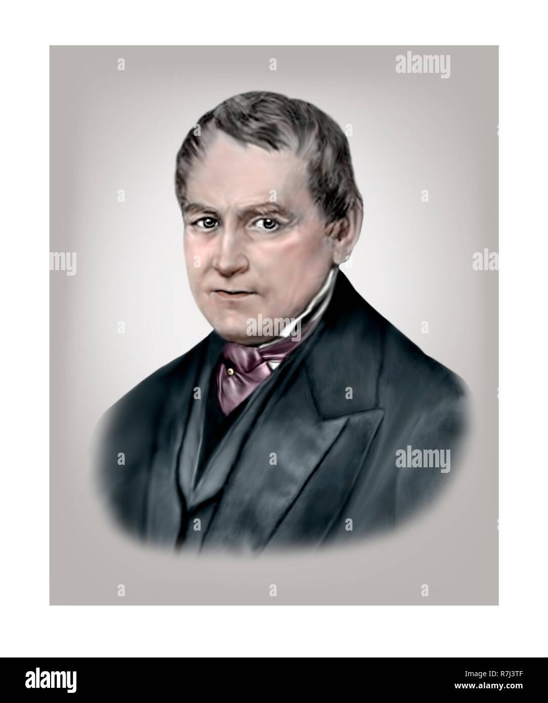 Christian Leopold von Buch 1774 - 1853 El geólogo paleontólogo alemán Foto de stock