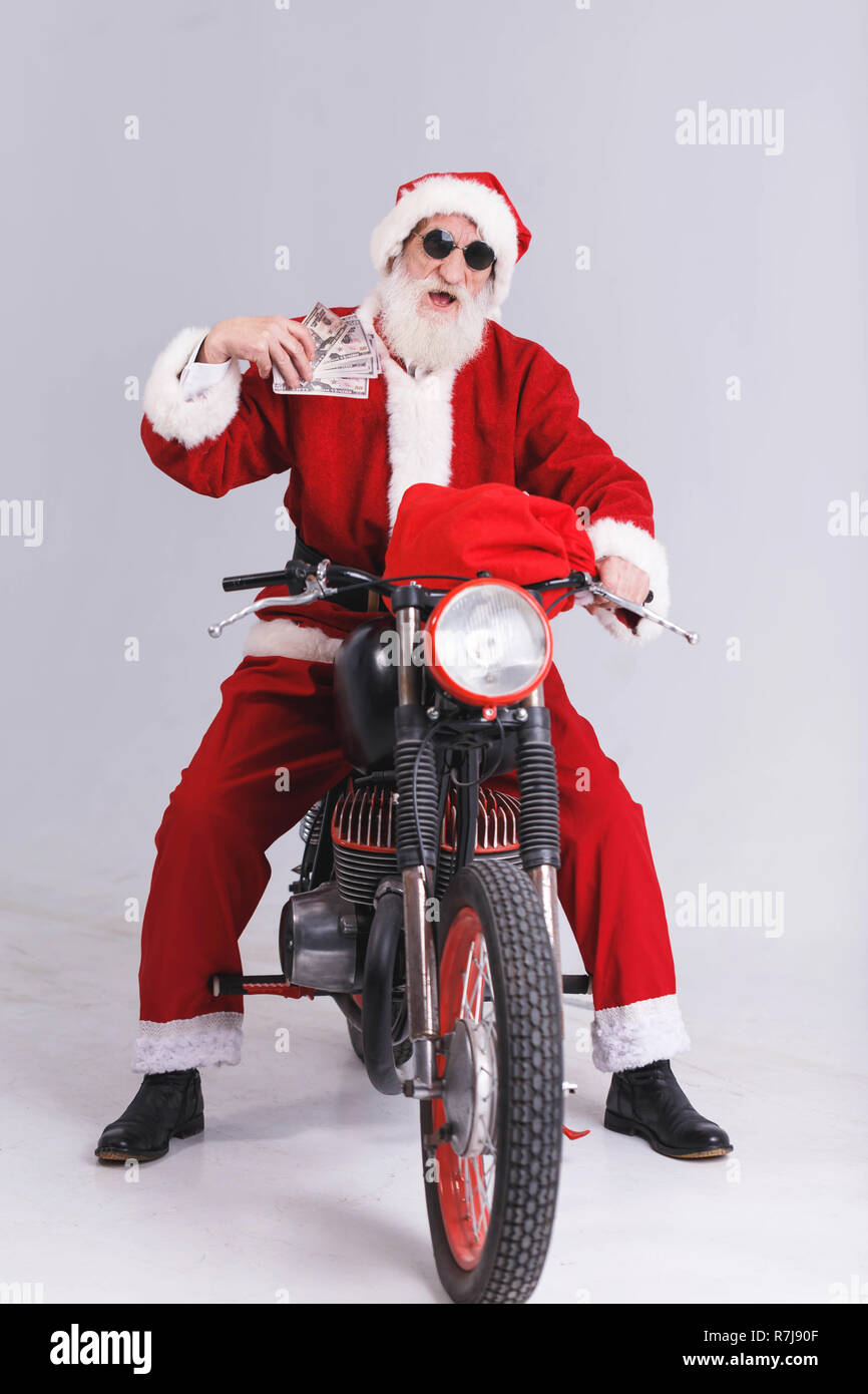 Papá Traje De Y Claus Una Blanca Santa Con Barba Sol Gafas rxsCohQdtB