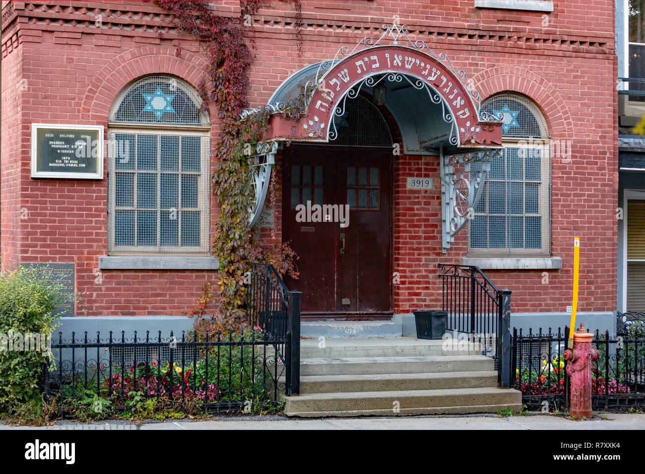 Canadá, provincia de Quebec, Montreal, patrimonio religioso, Sinagoga, templo de Salomón Bagg Street Shul Imagen De Stock