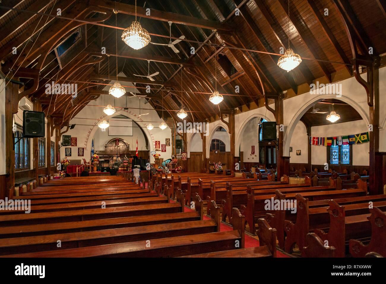 Canadá, provincia de Quebec, Montreal, patrimonio religioso, la Iglesia del Adviento en Westmount Imagen De Stock