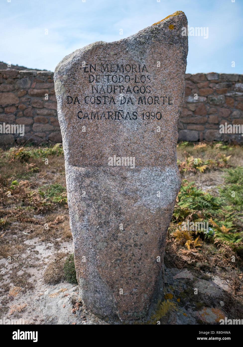 Interior del Cementerio Inglés en el Cabo Trece, Camariñas, Galicia, España Imagen De Stock