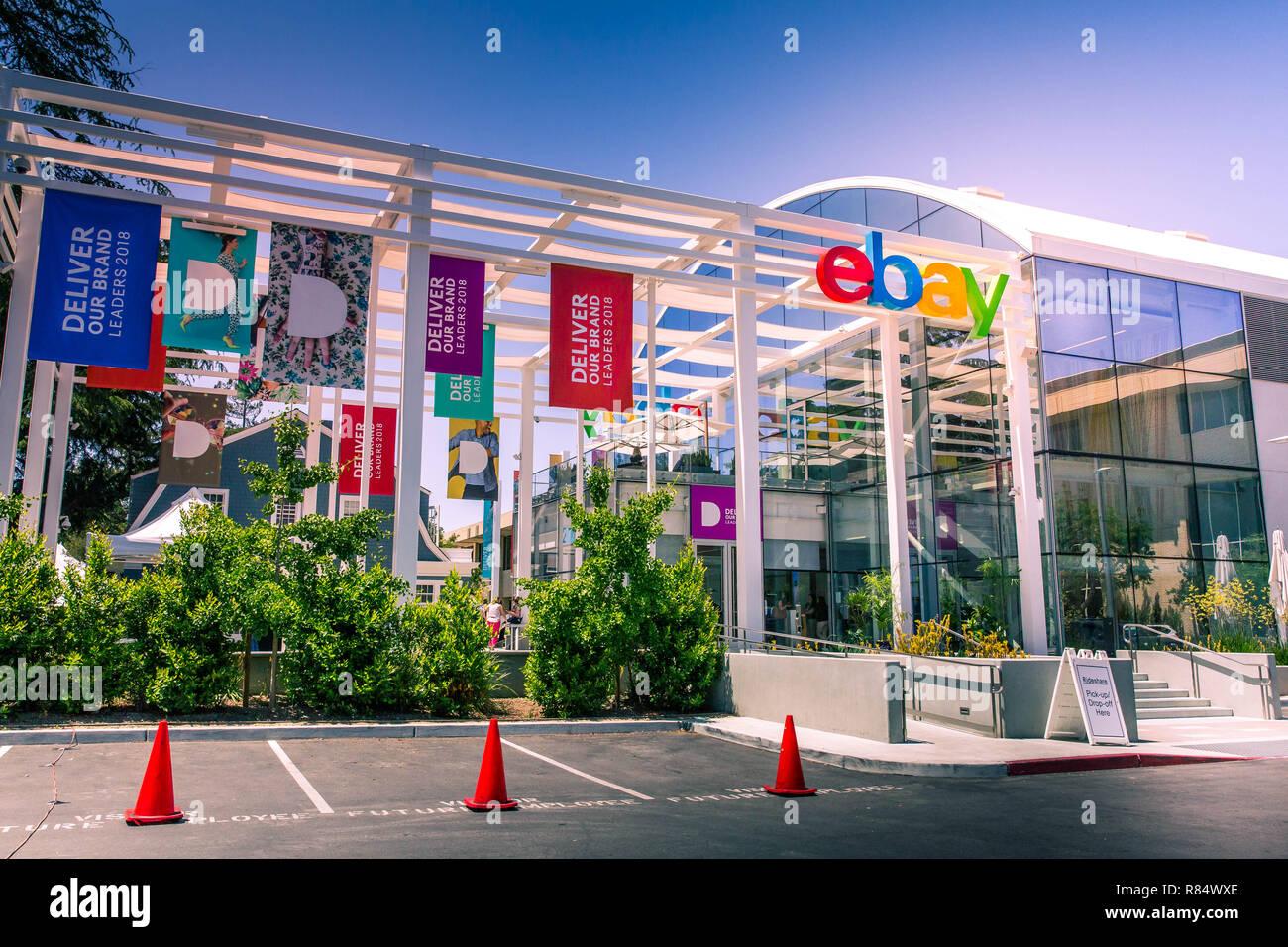 San Jose, California, USA - Mayo 21, 2018: la sede de eBay
