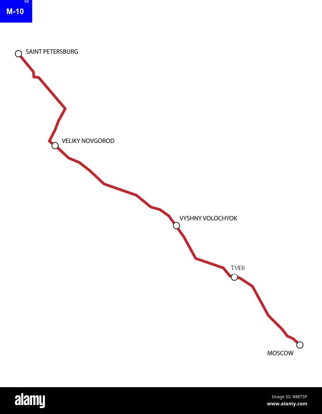 Federacion De Ruta M 10 De Rusia La Autopista Moscu San