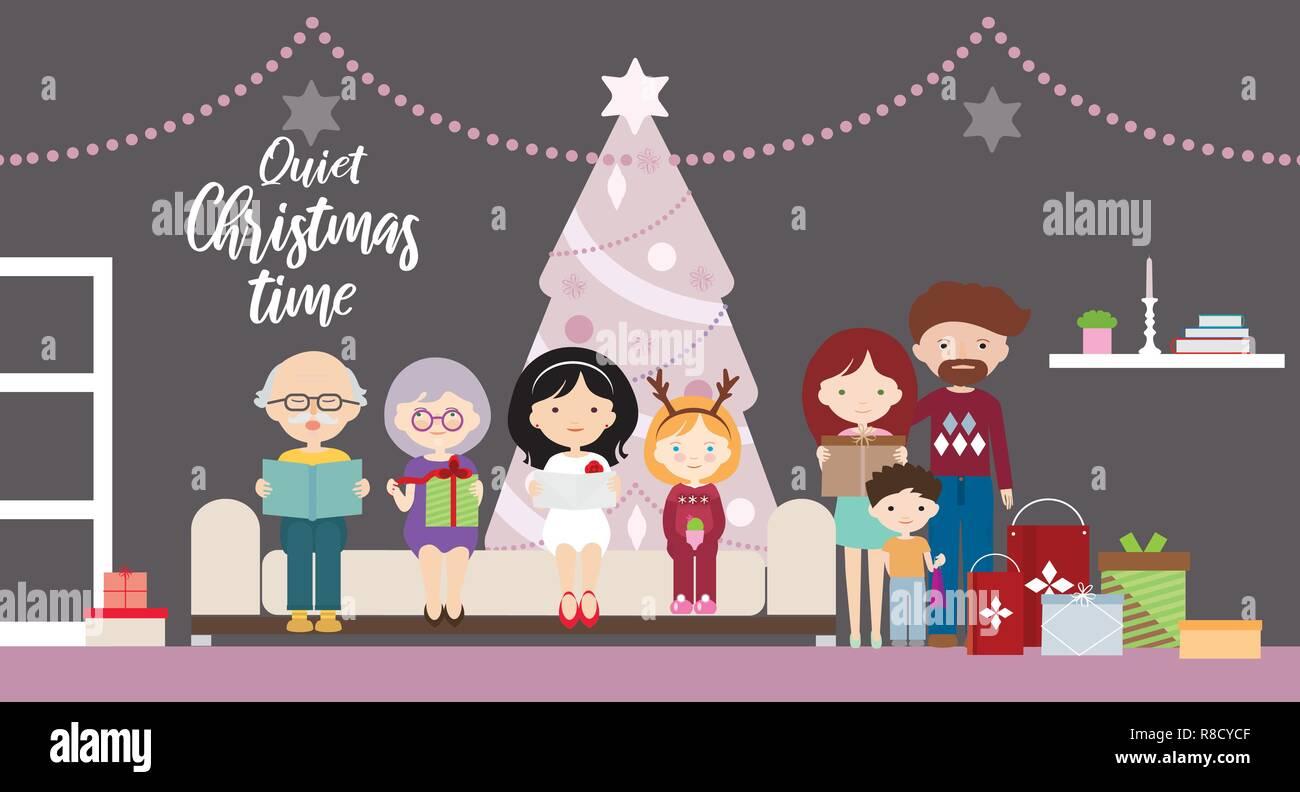 Dibujos animados dise o ilustraci n plana de una familia - Regalos navidad padres ...