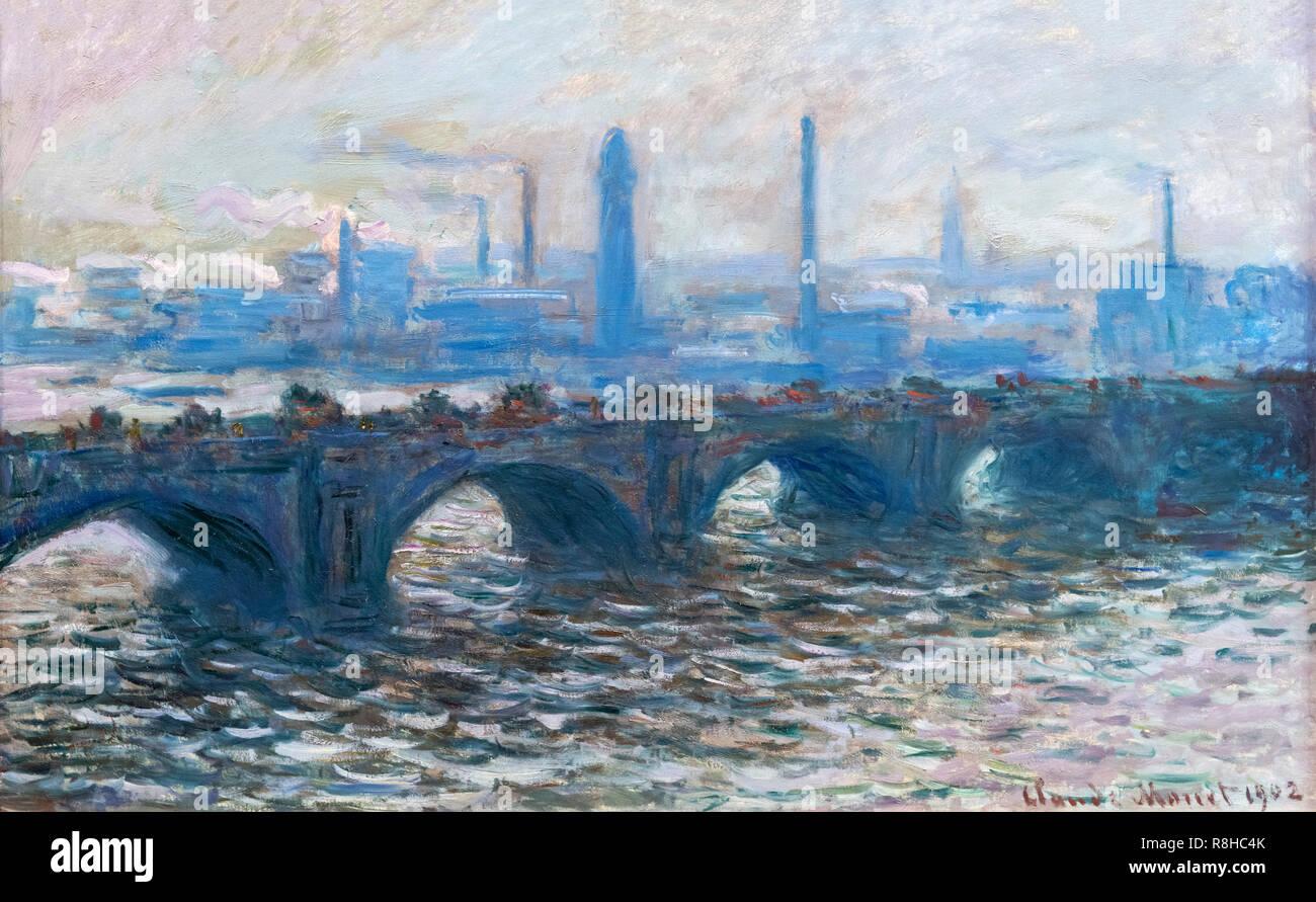 Waterloo Bridge por Claude Monet (1840-1926), óleo sobre lienzo, 1902 Imagen De Stock