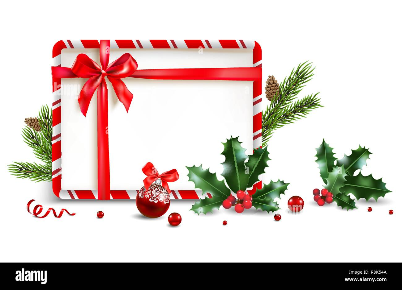 Diseño Festivo De Navidad Para Banner Billete Folleto