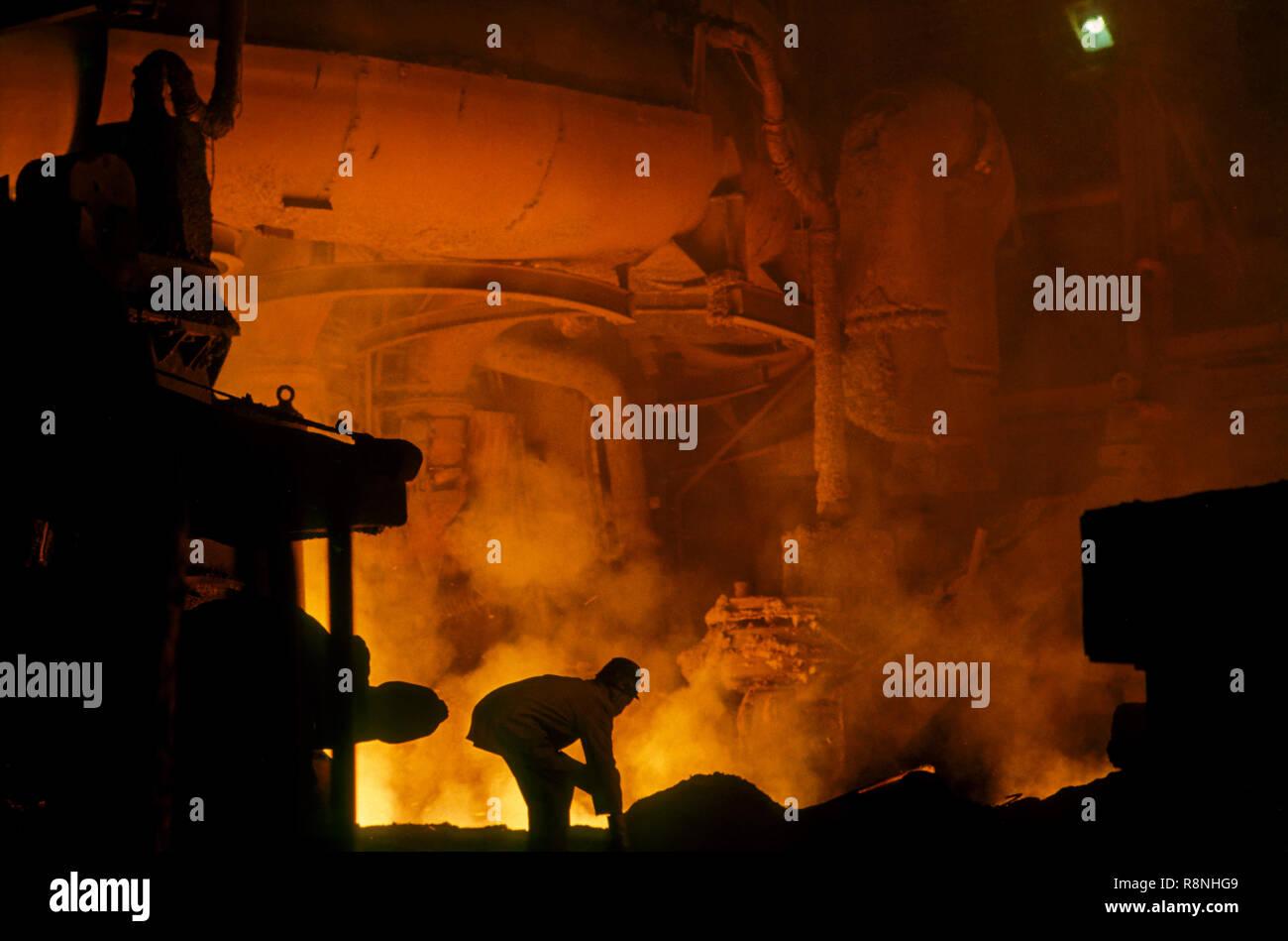 La planta de acero en la India Foto de stock