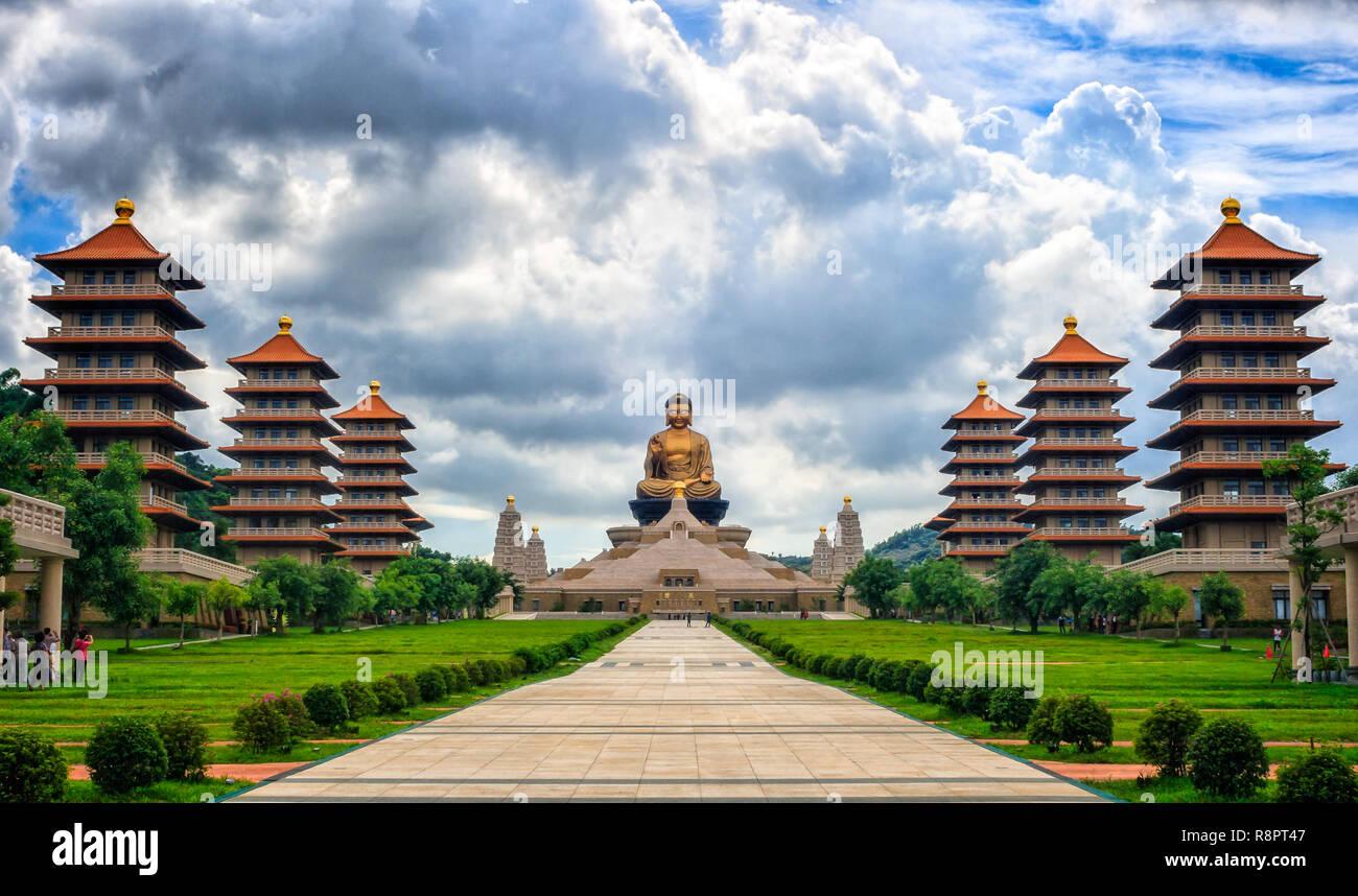 Templo budista de Taiwán Imagen De Stock