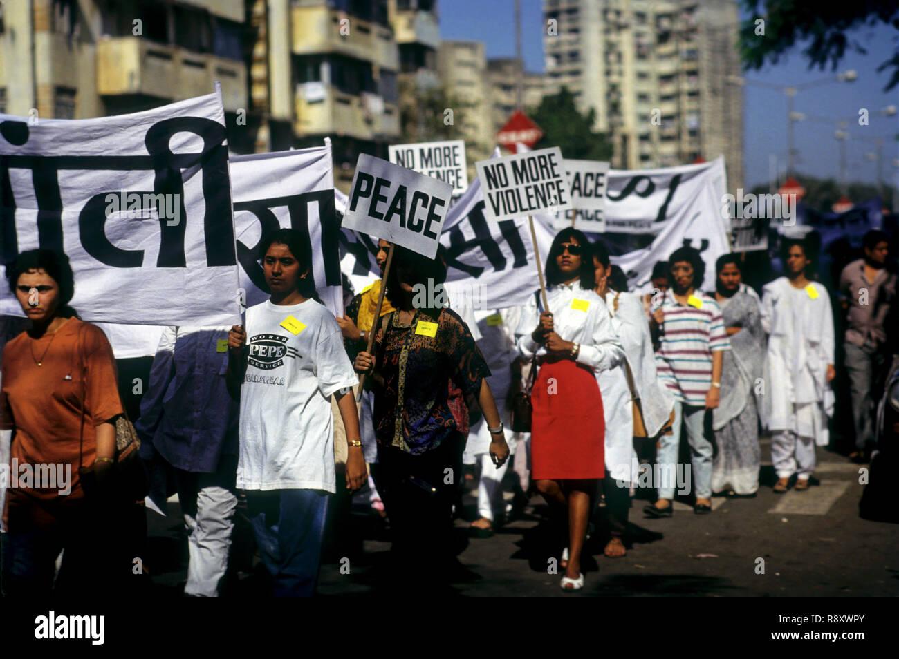 Marzo de durazno, rally morcha, india Imagen De Stock
