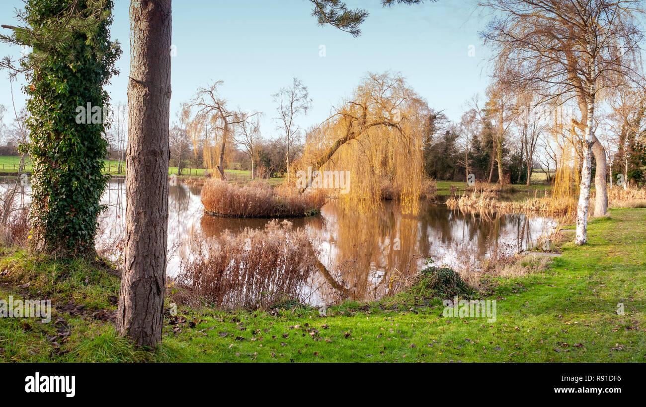 Birch piscina , casa de la sociedad, de angulación Elworth Elworth Sandbach Cheshire UK Imagen De Stock