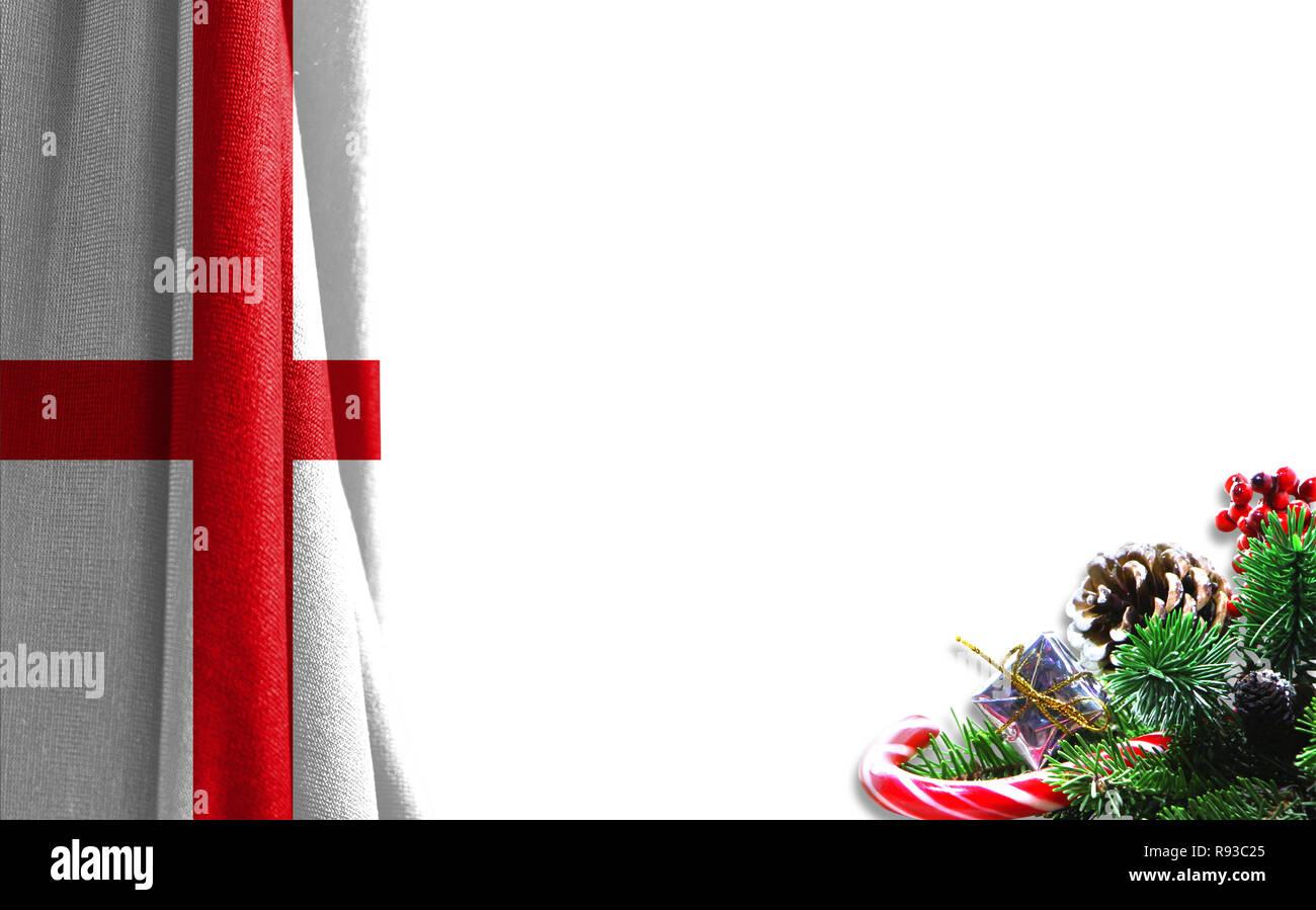 Navidad Fondo Del Año Nuevo Con Una Bandera De Inglaterra