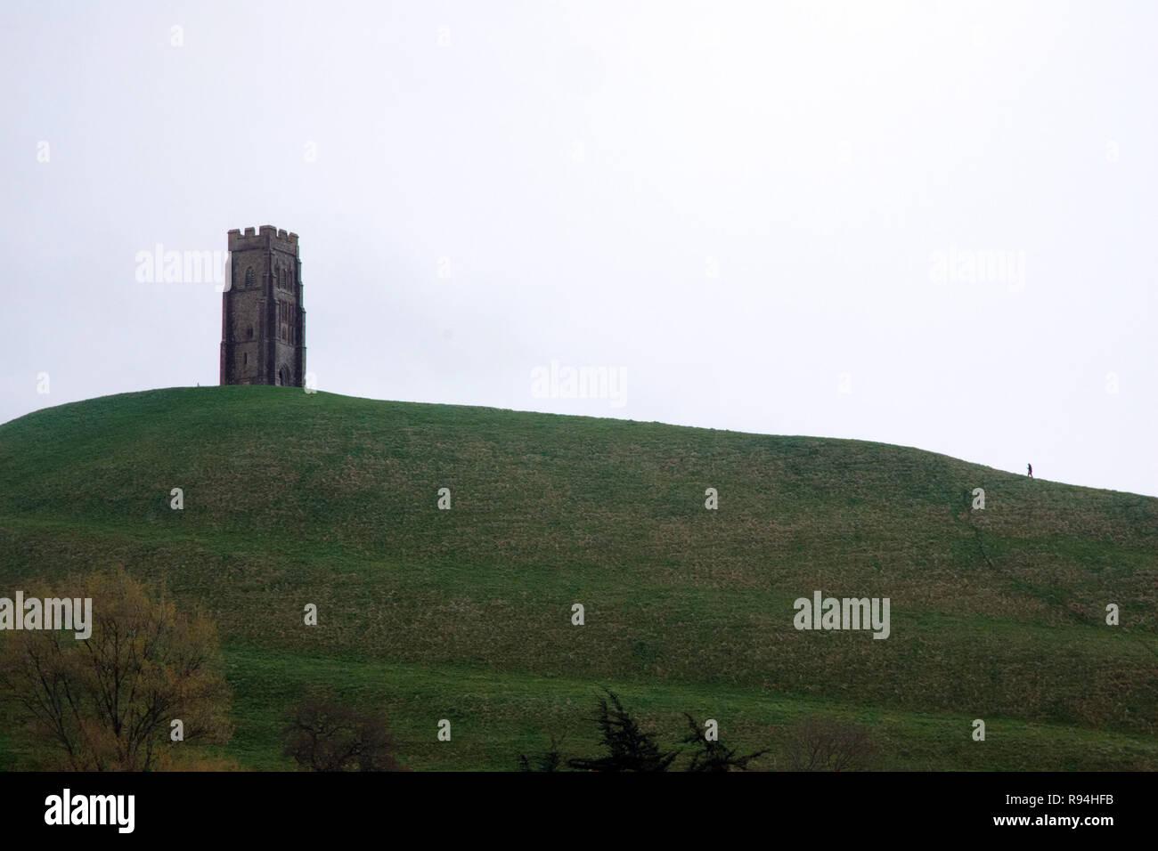 La ciudad de Glastonbury, Somerset, Reino Unido Imagen De Stock