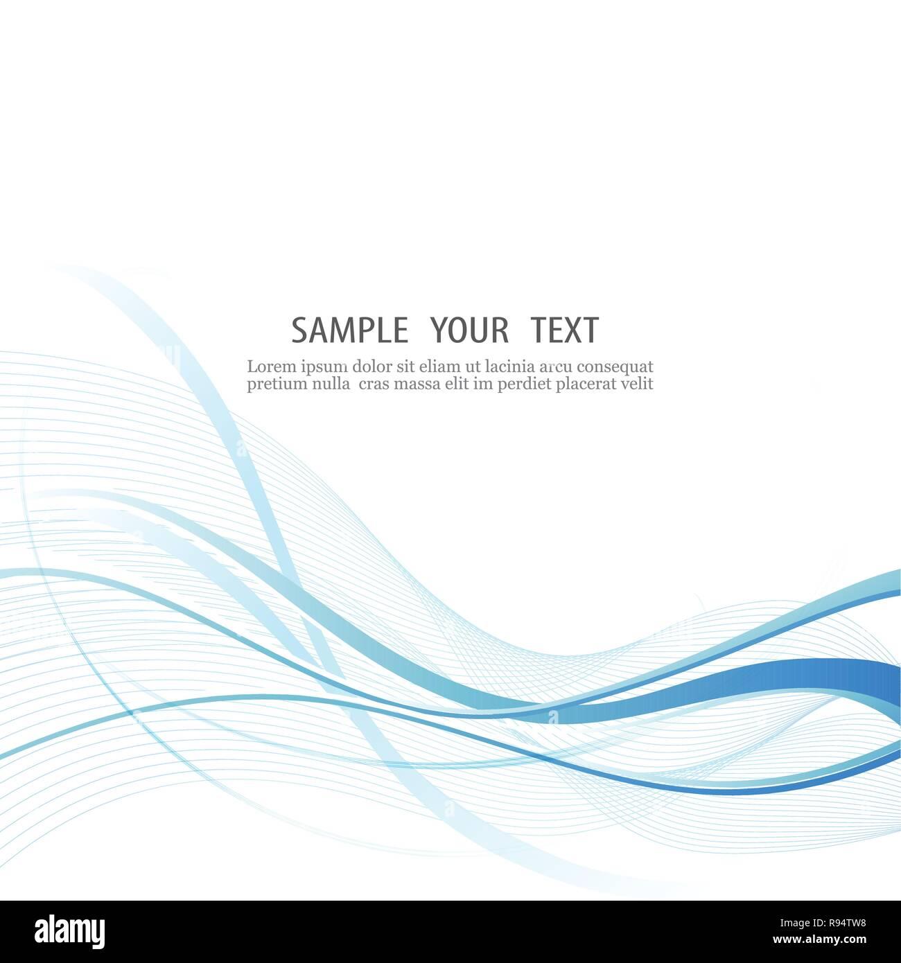 Elegante abstracto velocidad suave onda azul con fondo corriente moderna. Vector, ilustración, eps10. Ilustración del Vector
