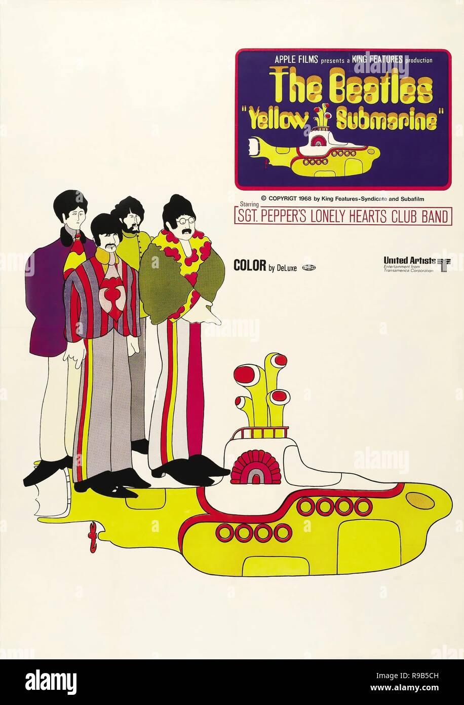 El título de la película original: Yellow Submarine. Título en inglés: Yellow Submarine. Año: 1968. Director: GEORGE DUNNING. Crédito: Apple Corps / Álbum Imagen De Stock