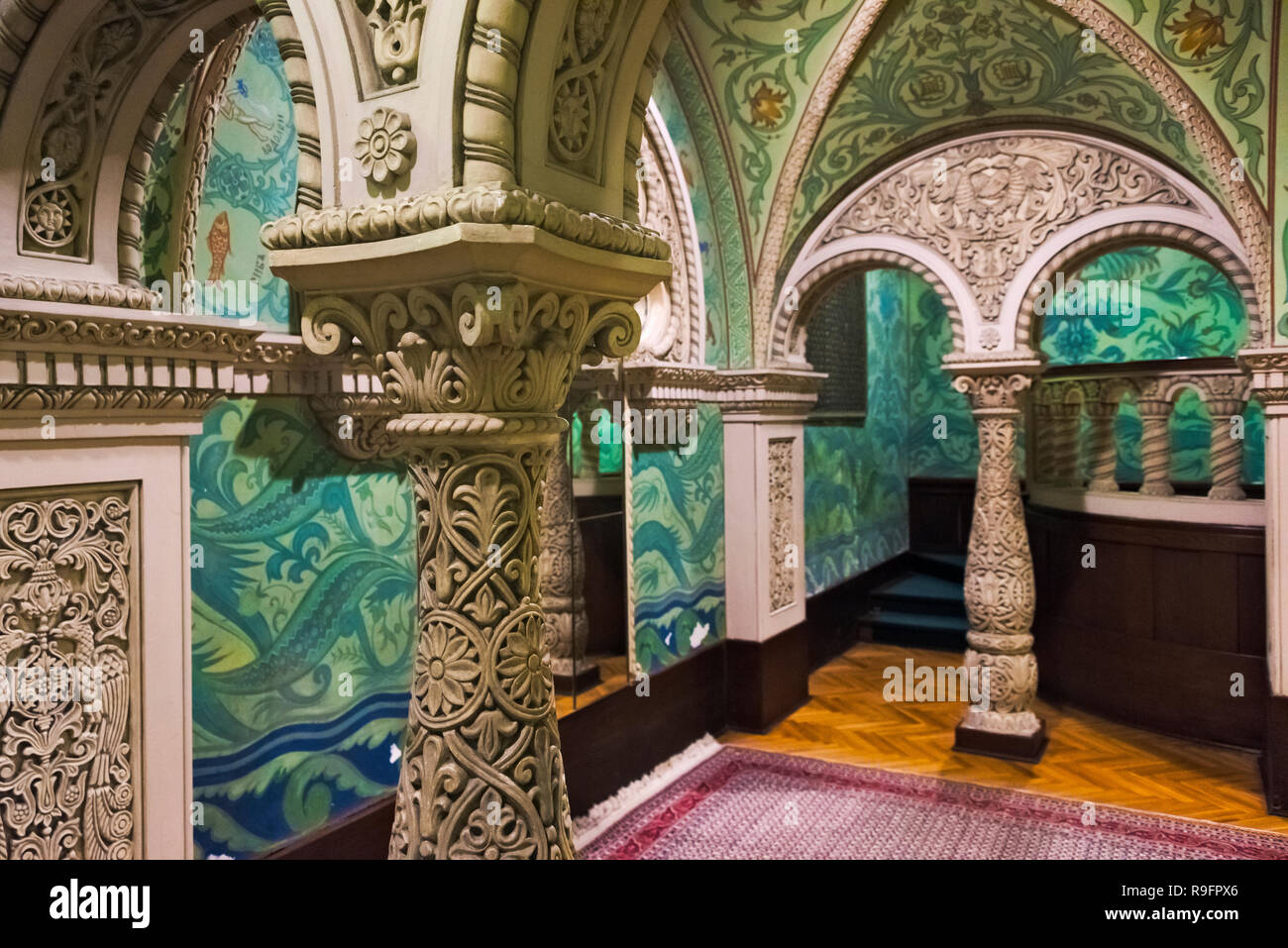 Interior del Palacio Real, Belgrado, Serbia Foto de stock