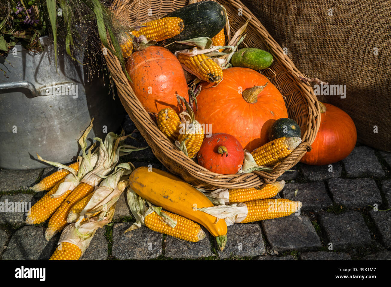 Verduras De Otoño Decoración Foto Imagen De Stock