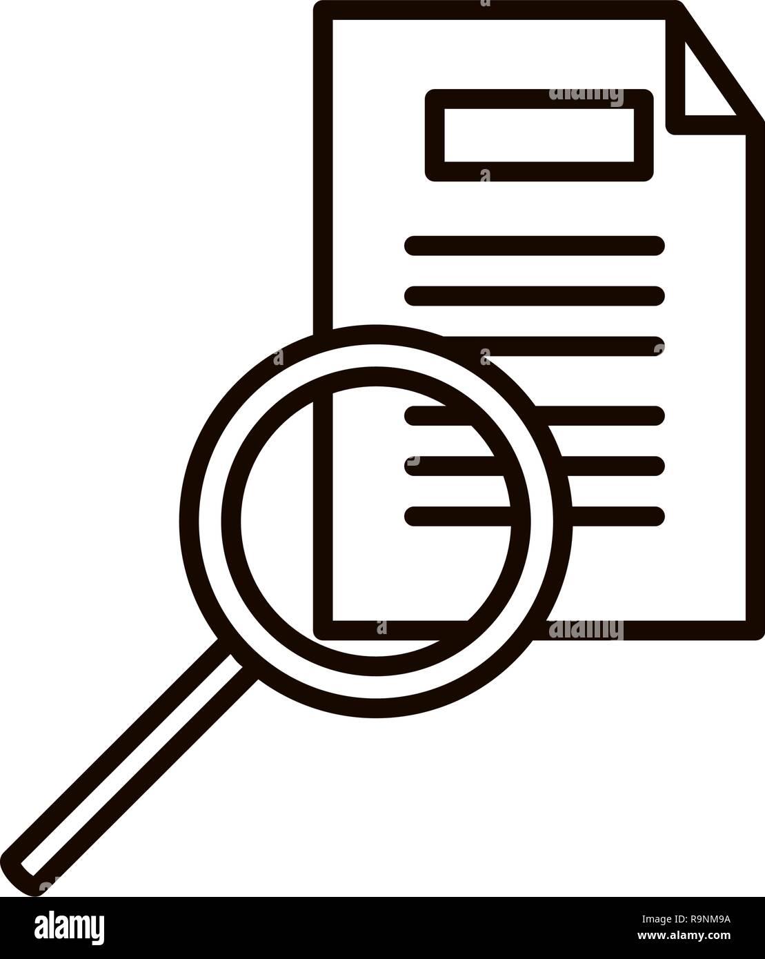 1e41a19ca6dde Buscar documento lupa con diseño ilustración vectorial Ilustración ...