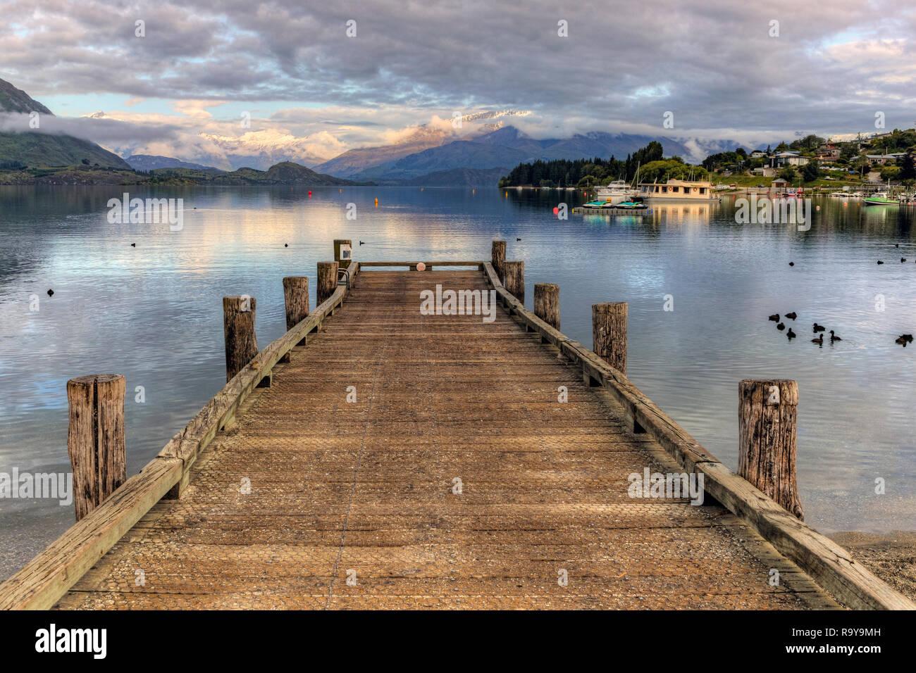 Wanaka, Otago, Queenstown, distrito de Los Lagos, Isla del Sur, Nueva Zelanda Foto de stock