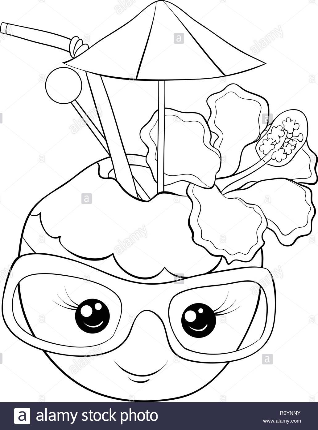 Una Caricatura Lindo Coco Con Gafas Imagen Para Actividad
