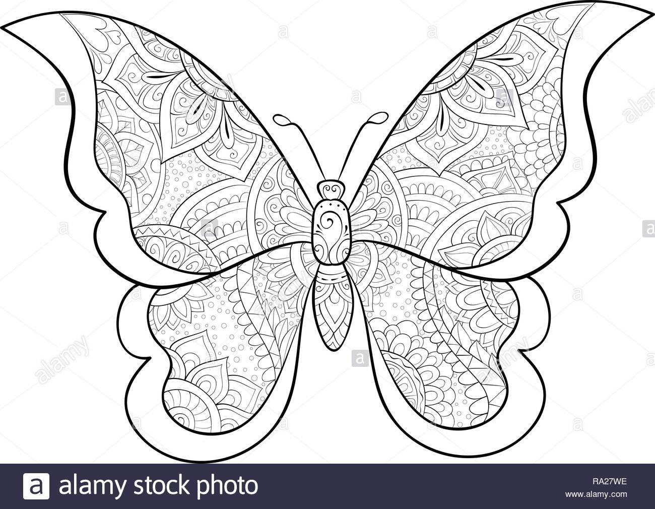 Una Linda Mariposa Con Ornamentos Imagen Para Actividad Relajanteun