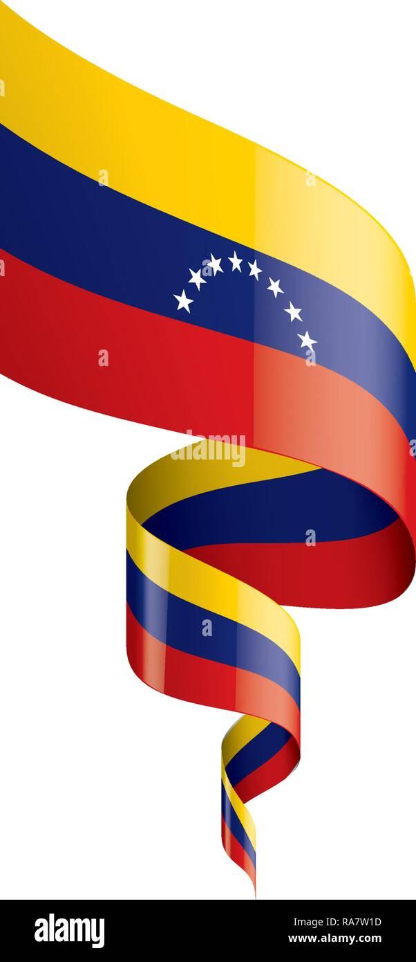 Bandera De Venezuela Ilustración Vectorial Sobre Un Fondo