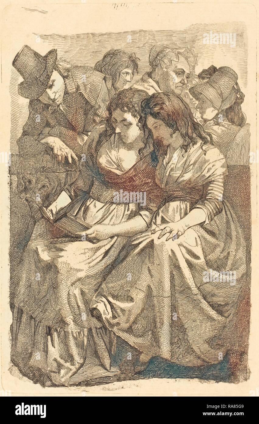 Johann Gottfried Schadow (alemán, 1764 - 1850), Schadow y su familia, 1794-95, Aguafuerte sobre papel establecido. Reinventado Foto de stock