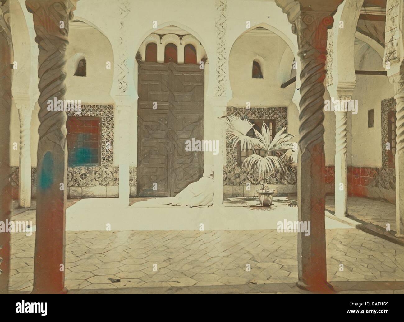 Intérieur Mauresque, Alger, egipcio, Argel, Argelia, alrededor de 1865-1875, albúmina imprimir plata. Reinventado Foto de stock