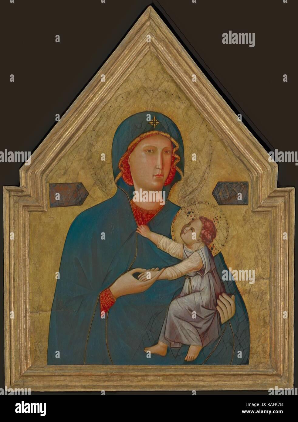 La Virgen y el Niño, maestro de Santa Cecilia (Italiano, activo alrededor de 1290 - 1320), 1290-1295, Temple y hoja de oro sobre reinventado Foto de stock
